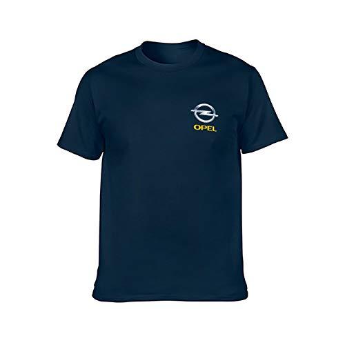 YXACETX Opel Logo T-Shirt Classic 3D Gedruckt Unisex Casual Graphic Kurze Hülse Tees Strand Urlaub Mode Wild Paar Casual Kurzarm Hemd Blue-X-Large