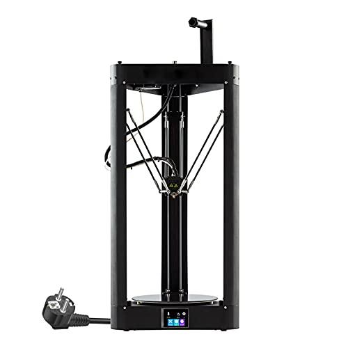 BOROCO QQ-S PRO Delta 3D Drucker 255X360mm Druckgröße Hochgeschwindigkeits 3D-Printers mit Gitterglasplattform Touchscreen Auto-Leveling-System,für Verbrauchsmaterial PLA ABS TPU Hips