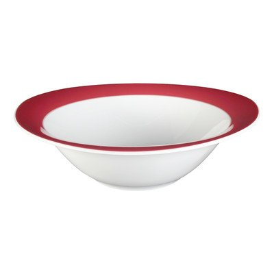 Seltmann Trio 001.035695 - Cuenco redondo (porcelana, 1,3 L, 27,9 cm de diámetro, 8,1 cm de altura), color rojo