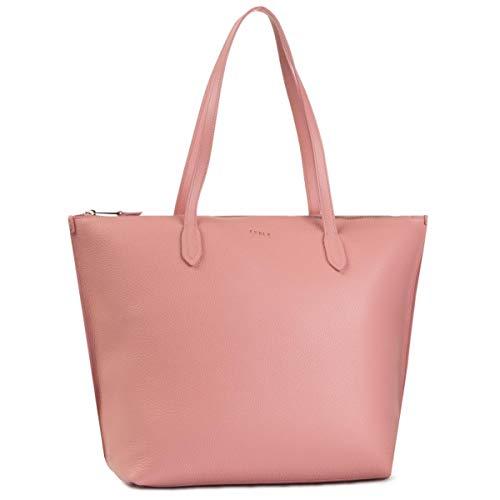 FURLA Shopping tas licht roze leer dames