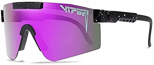 Luyol 1 PCS Pit Cycling Polarized Sports Sunglasses Outdoor Sports Gafas UV400 Gafas de Sol a Prueba de Viento Viper para Hombres y Mujeres (Color : C4)