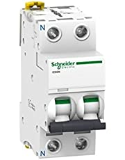 Schneider Electric A9F74101 Interruptor Automático Magnetotérmico iC60N, 1P, 1 A, Curva C, Blanco
