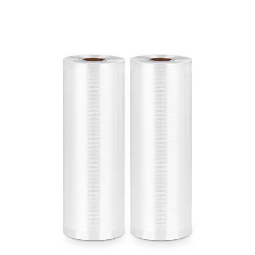 Bolsas selladoras al vacío GAFICHEF 2 rollos de 8 pulgadas x 16 pies, bolsas de sellado de calidad comercial para ahorro de alimentos y Sous Vide sin BPA