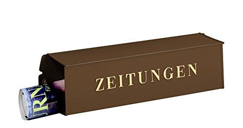 Burg-Wächter Zeitungsbox mit geprägeter Schrift, Metall, 808 K, Kupfermetallic