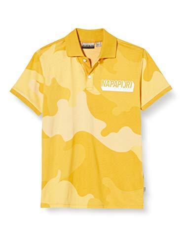 Napapijri K ENE Polo, Multicolor (Yellow Camo FU7 FU71), 7 años para...