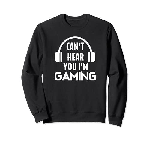 Divertido juego no puedo escuchar que estoy Gaming Headset Gamer Sudadera