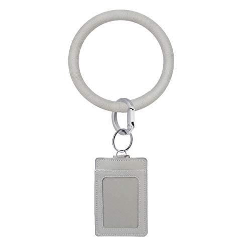 Townshine - Llavero de silicona para muñeca, diseño redondo, color gris