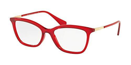 Ray-Ban Damen 0RA7104 Brillengestelle, Rot (Transparente Red), 52