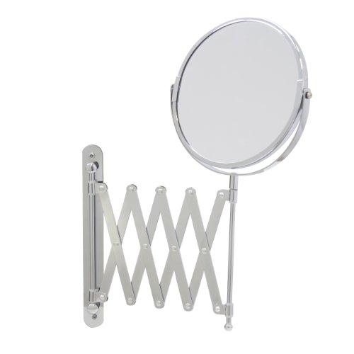 Axxentia Bad 282802 - Espejo de 3 aumentos con Brazo de Pared (17 cm, Extensible hasta 57 cm)