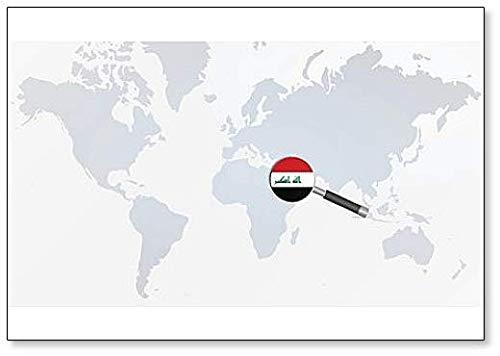 Kühlschrankmagnet Irak-Flagge in Lupe Illustration