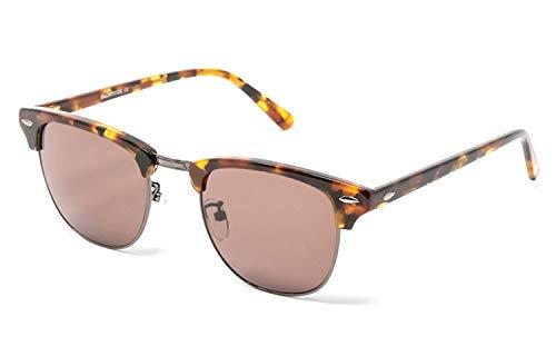 CHANCE - TESS Gafas de sol clásicas unisex - Edición Limitada (Jaspeado marrón y gris plomo, Marrón)
