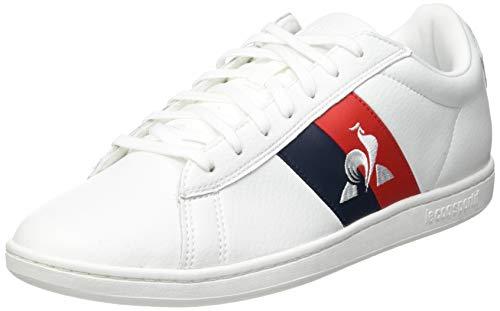 Le Coq Sportif COURTCLASSIC Flag, Zapatillas Hombre, Optical White, 45 EU