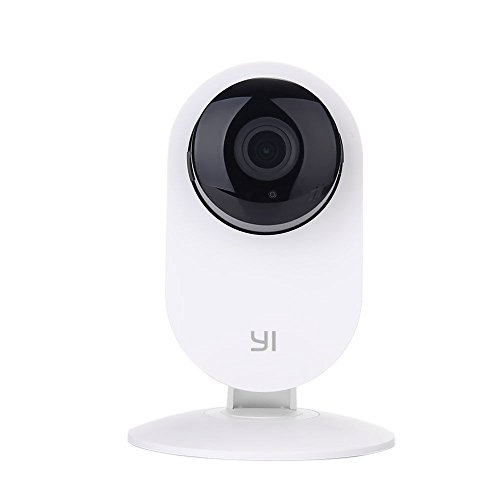 YI Home Camera (Official U.S. Edition) - HD Wireless Camera Video Monitor IP/Network Surveillance/Home security, 720p, Night Vision, Motion Detection & Alerts-White