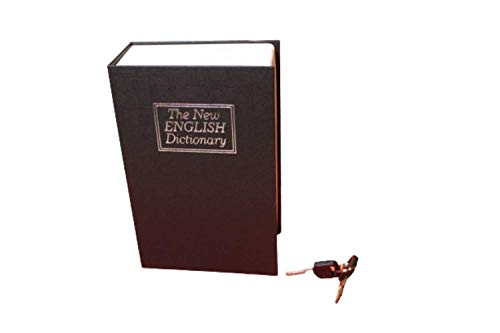 Geldkassette, MITELLA, Tresor mit Schlüsselschloss, extrem zuverlässig, Buchtresor in Schwarz, besonderes Geschenk