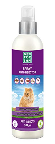 MENFORSAN Spray Anti-Insectos Con Margosa, Geraniol Y Lavandino Gatos - 250 ml