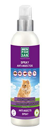 MENFORSAN Spray Anti-Insectos Con Margosa, Geraniol Y Lavandino Gatos - 250 ml
