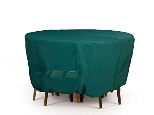 Covermates Oval Bistro Table/Chair Set Cover - Light Weight Material, Weather Resistant, Elastic Hem, Patio Table Covers-Green