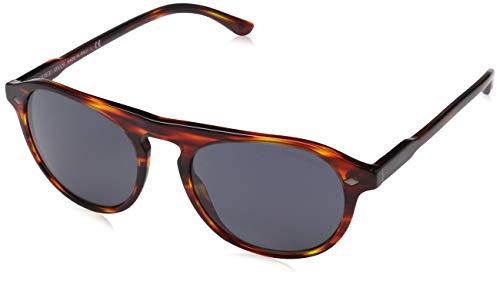Armani 0AR8096 5580R5 53 Gafas de sol, Rojo (Striped Red/Grey), Hombre