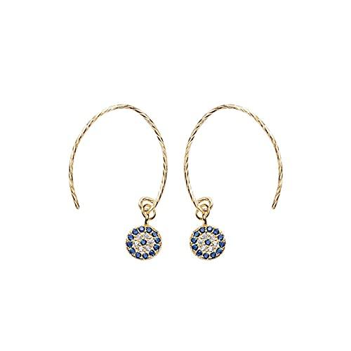 1 piercing para orejas para niñas con diseño de ojos azules
