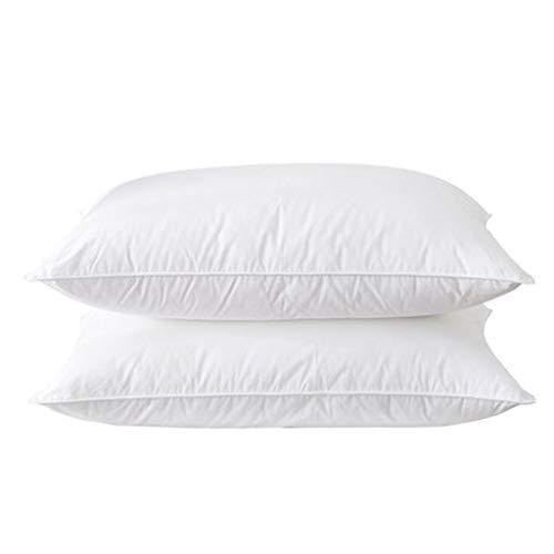 LLKK Almohadas domésticas de algodón,Almohadas de Hotel de Cinco Estrellas,Almohadas de Cuello para Adultos,Almohadas de hogar genuinas para Dos Personas