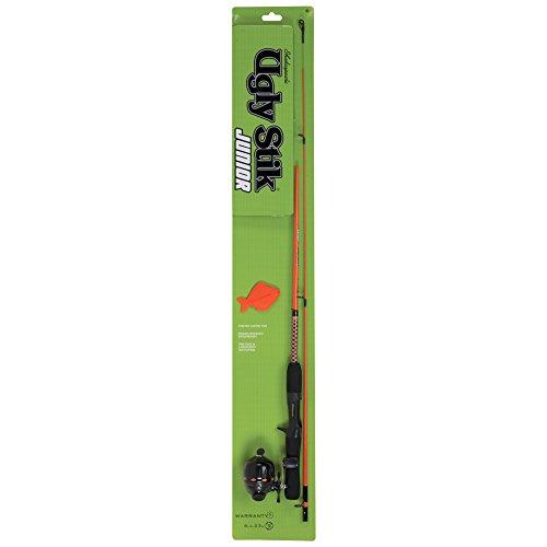 Shakespeare UGLYJRSCKIT2 Ugly Stik Jr. Fishing Rod and Spincast Reel Combo, Orange, 4.5 Feet, Ultra Light Power
