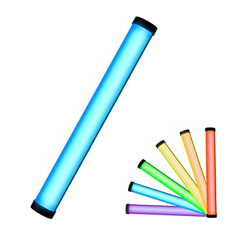 Photography Light Wand, PHOTOOLEX Handheld Led Light Stick,Magnetic rgb tube light ,Portable Tube Light for Video Photography TikTok Portrait(with LED Display, Magnetic, Built-in Rechargeable Battery)