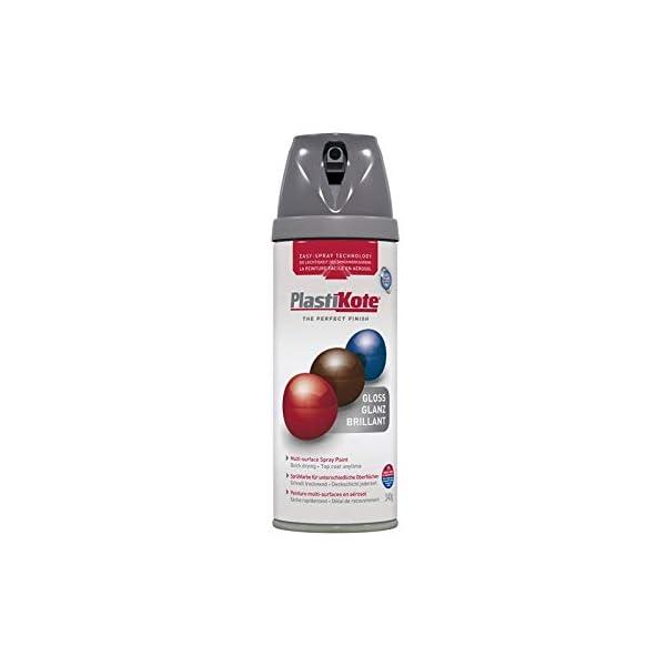 Plasti-kote 21101 400ml Premium Gloss - Medium Grey