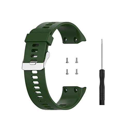 WE-WHLL Reemplazo de Silicona Pulsera de Moda Inteligente Correa de Reloj para -Garmin Forerunner 35 GPS Running Watch
