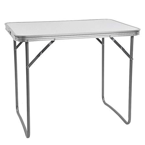 Gojiny Klappbarer Camping-Tisch, 70 cm Grill im Freien Grill Picknick Metall Fußrohr Klappbarer Schreibtisch für Gartenreisen (Schiff aus Deutschland)