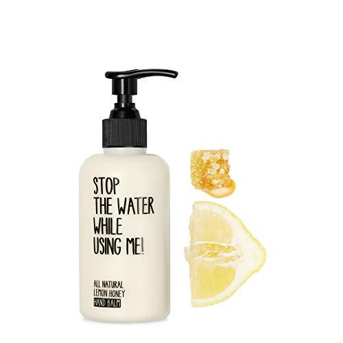 STOP THE WATER WHILE USING ME! All Natural Lemon Honey Hand Balm (200ml), natürliche Handcreme im nachfüllbaren Spender mit frischem Zitrone-Honigduft, Handbalsam für sehr trockene Hände