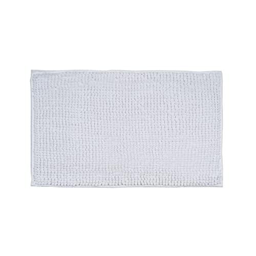 Montse Interiors, S.L. Alfombra Baño/Habitación Microfibra Antideslizante (Hugo Blanca, 40x60)