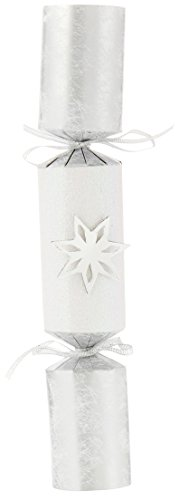 Talking Tables Party Porcelain Silver Christmas Crackers for Christmas Dinner and Party, Silver (6 Pack)