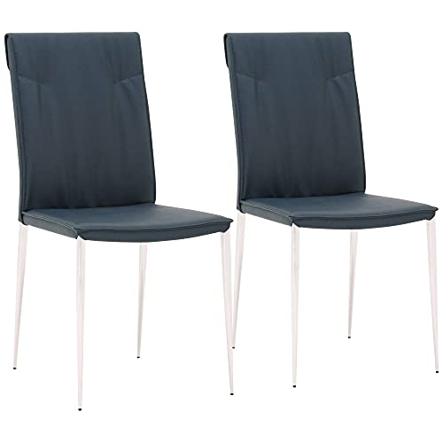 Lane French Navy Synthetic Leather Dining Chairs...
