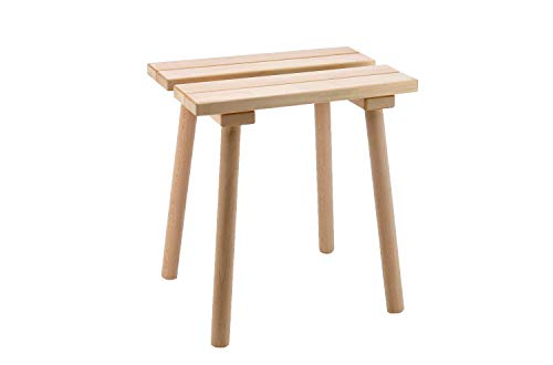 Eliga taburete rectangular de madera natural