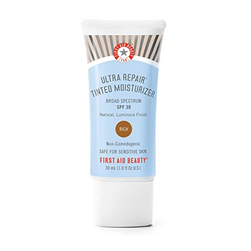 First Aid Beauty Ultra Repair Tinted Moisturizer with SPF 30, Colloidal Oatmeal and Hyaluronic Acid, 1.0 oz. – Rich