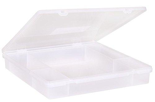 Wham 23353 Sortierbox 6-Fächer WEISS ca38x39x6cm Sortierkasten Sortimentskasten