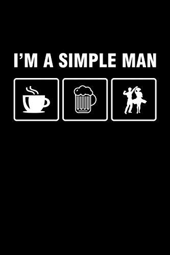 I'm A Simple Man: Punkteraster Dotted Notizbuch A5 - Salsa Tanzen Notizheft I Tanzlehrer Kaffee Bier Latin Salsero Tänzer Geschenk