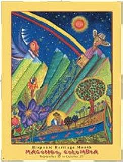 Hispanic Heritage Poster In Memory of Garcia Marquez - Macondo, Colombia (HCO)