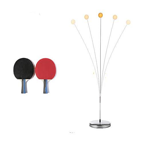 De Ping Pong con Elástico Eje Suave, 2 Bates Y 3 Pelotas, Juego De Raquetas De Ping-Pong Sin Mesas Equipo De Entrenamiento para Adultos Y Niños Prevenir La Miopía,Photo Color
