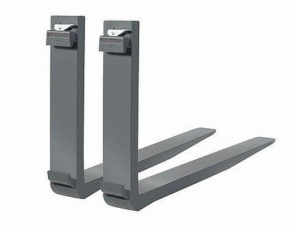 Palettengabelzinken 1200mm, ISO 2A von Vetter, 2 Stück (1Paar), Querschnitt 80x40mm, Tragfähigkeit pro Gabel 1000kg, Rückenhöhe 550mm, Werkstoff 30Mn5VS