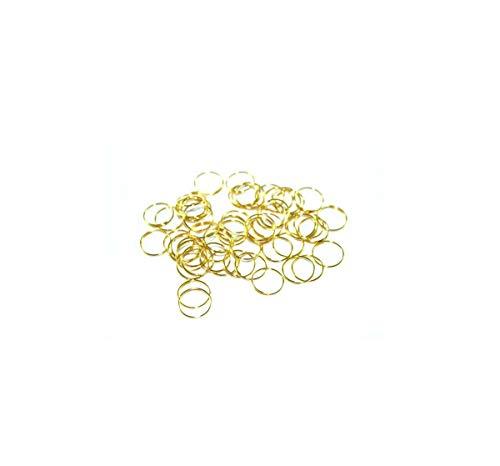 Ilab - Lote de 30 anillas de clip doradas con gancho y cierre para cristales de repuesto de lámparas y apliques