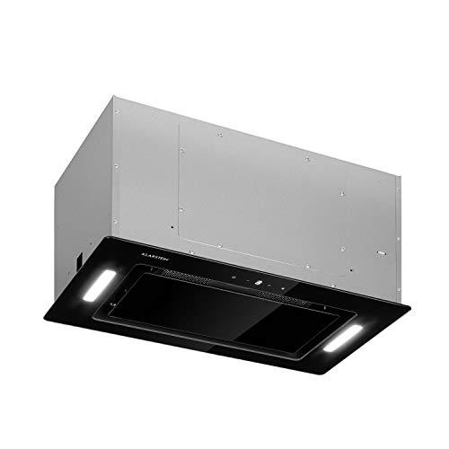 Klarstein Hektor Eco - Lüfterbaustein, 52 cm, max. Abluftleistung 566 m³/h, EEK: B, 3 Stufen, Nachlüftungstimer, LEDs: 2 x 2 W, Touch-Panel, Dunstabzugshaube, Einbau-Haube, schwarz
