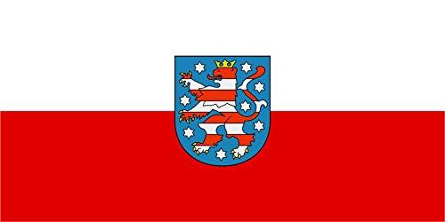 Kiwistar Aufkleber - Thüringen - Bundesland Deutschland Autoaufkleber Sticker Flagge