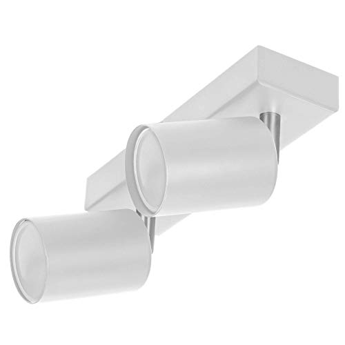 ORNO DOA SP 10 Strahler Deckenleuchte und Wandleuchte Spot GU10 max.2x 35 W, IP20 (Weiß)(Glühbirne separat gekauft)