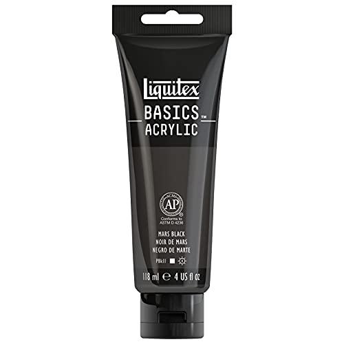 Liquitex BASICS Acrylic Paint, 4-oz tube, Mars Black