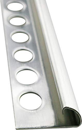 FUCHS Fliesenschiene PREMIUM 1 x 2,5m Edelstahl Gebürstet 10mm Rundprofil Abschlussprofil Edelstahlschiene zum Schutz der Fliesenkante