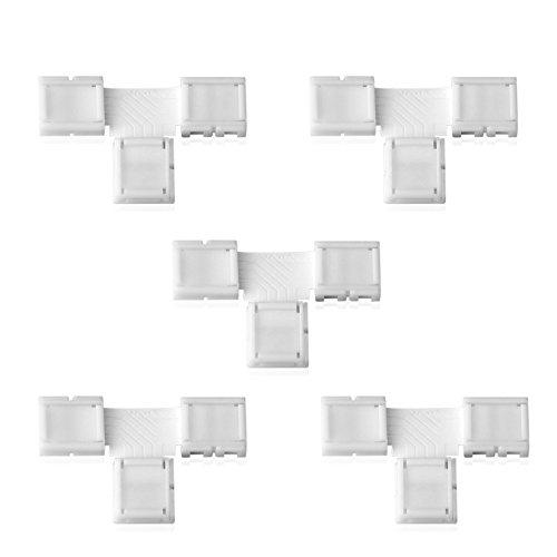 Sienoc 5 pk conector rápido conector conector en forma de T Conector LED tira del RGB 5050