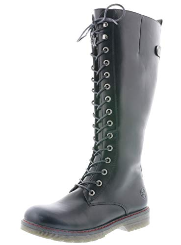 Rieker Damen Stiefel 90430, Frauen Winterstiefel, feminin elegant Women's Woman Freizeit leger Winter-Boots gefüttert,schwarz,39 EU / 6 UK