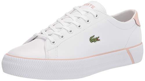 Lacoste womens Women's Gripshot Sneaker, Wht/Lt Pnk, 6 US