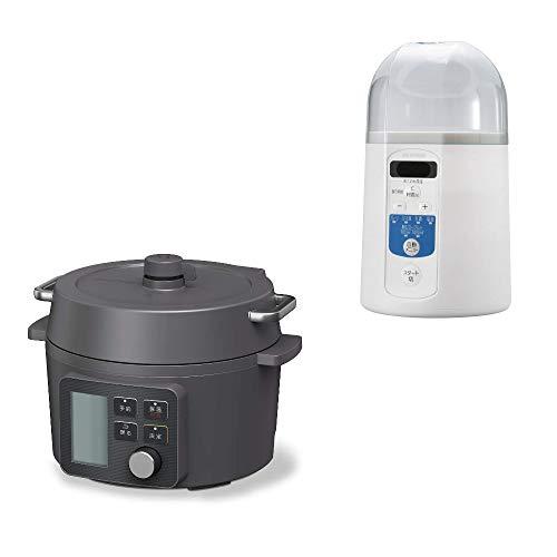 アイリスオーヤマ 電気圧力鍋 2.2L 65種類自動メニュー ヨーグルトメーカー レシピ付き 温度調節機能 セット